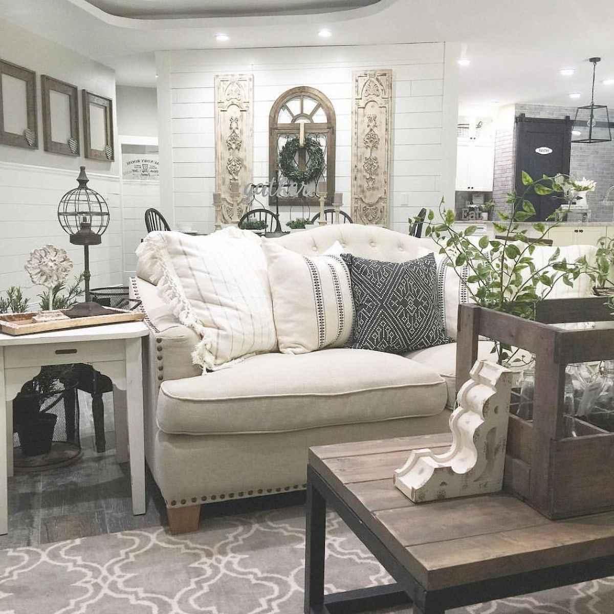 80 Awesome Modern Farmhouse Staircase Decor Ideas: 60 Modern Farmhouse Living Room Decor Ideas (27