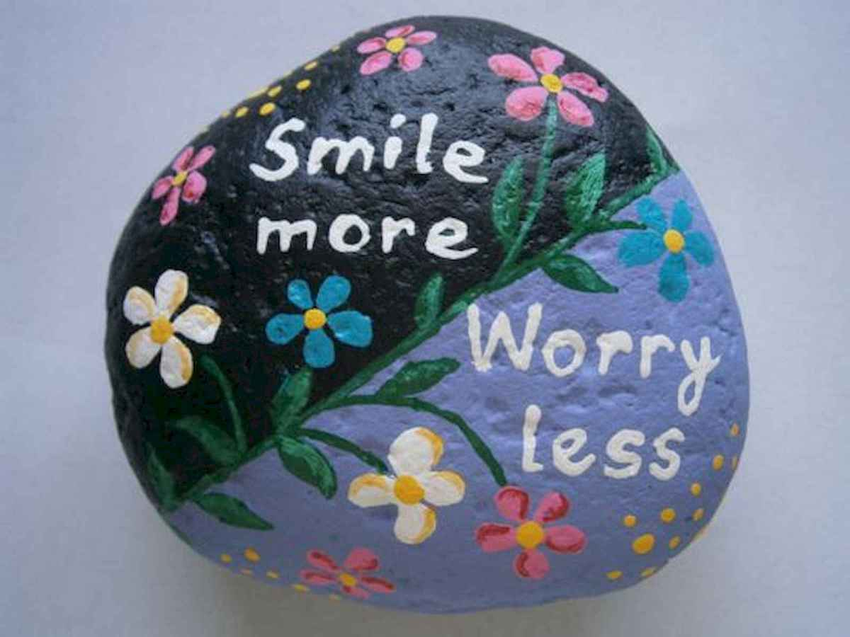 35 Awesome Painted Rocks Quotes Design Ideas (14)