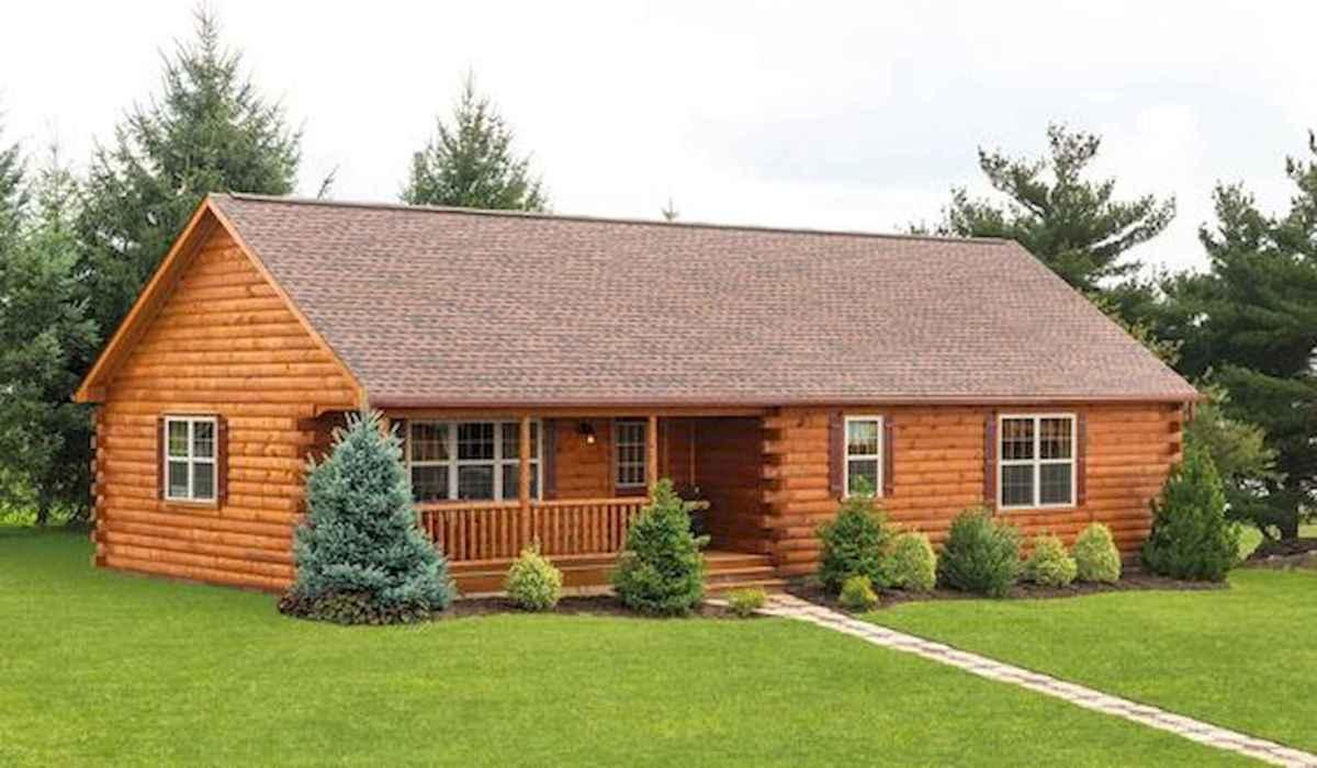 40 Best Log Cabin Homes Plans One Story Design Ideas (3)