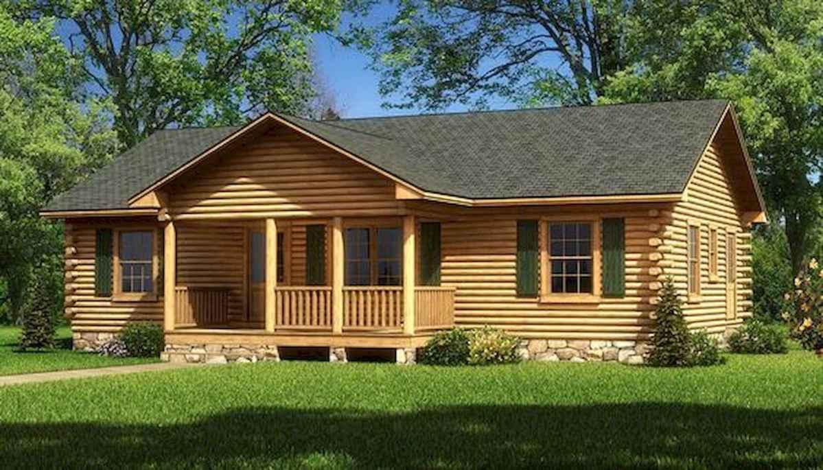 40 Best Log Cabin Homes Plans One Story Design Ideas (31)