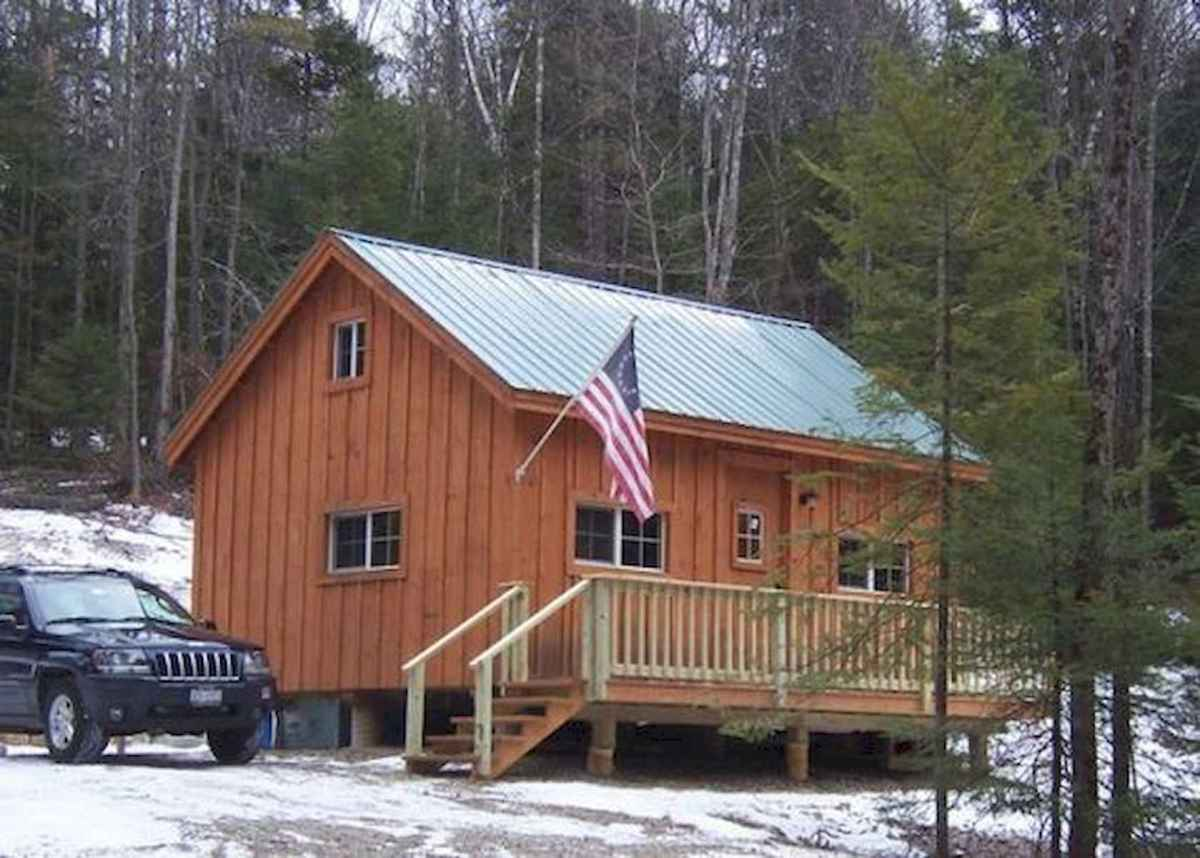 40 Best Log Cabin Homes Plans One Story Design Ideas (34)