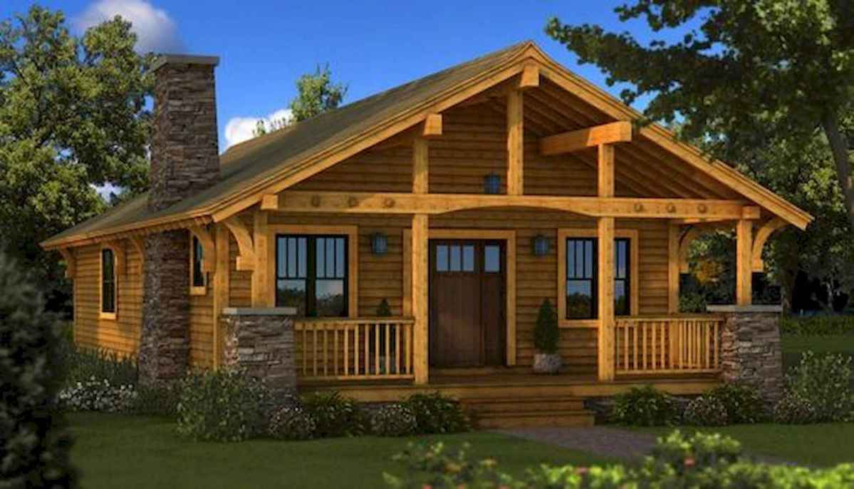 40 Best Log Cabin Homes Plans One Story Design Ideas (36)