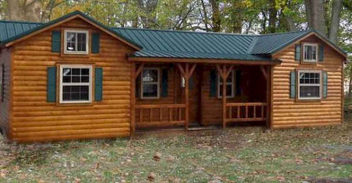 40 Best Log Cabin Homes Plans One Story Design Ideas (8)