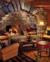 60 Stunning Log Cabin Homes Fireplace Design Ideas (1)