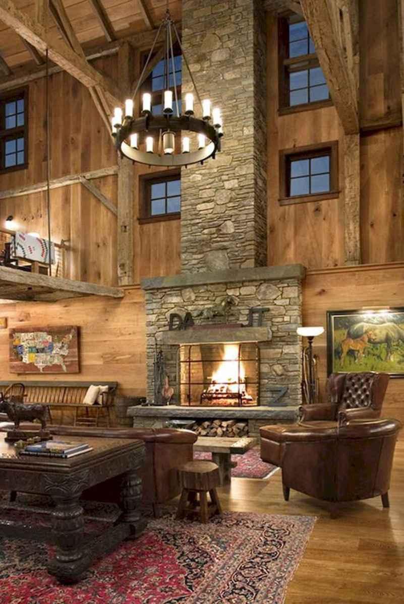 60 Stunning Log Cabin Homes Fireplace Design Ideas (23)