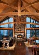 60 Stunning Log Cabin Homes Fireplace Design Ideas (3)
