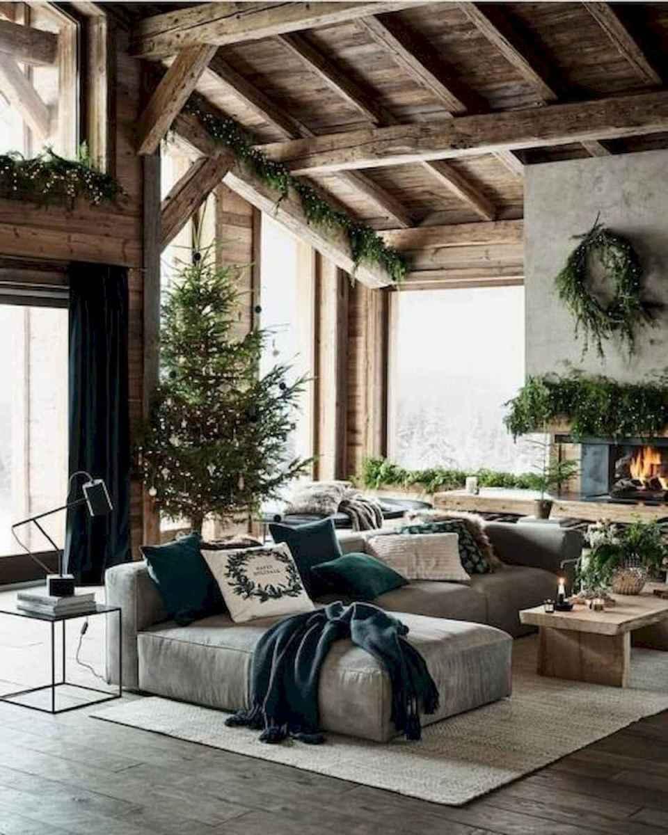 60 Stunning Log Cabin Homes Fireplace Design Ideas (44)