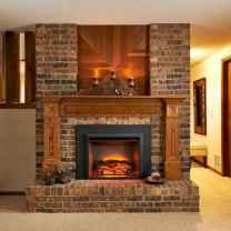 60 Stunning Log Cabin Homes Fireplace Design Ideas (54)