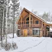 70 Fantastic Small Log Cabin Homes Design Ideas (11)