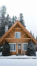 70 Fantastic Small Log Cabin Homes Design Ideas (23)