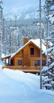 70 Fantastic Small Log Cabin Homes Design Ideas (28)