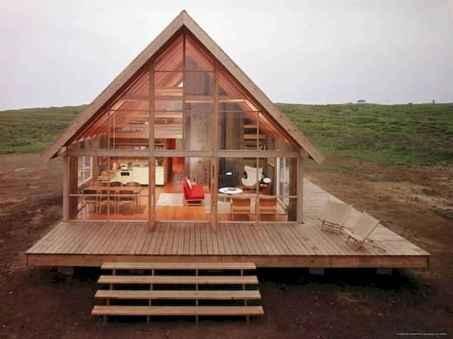 70 Fantastic Small Log Cabin Homes Design Ideas (29)
