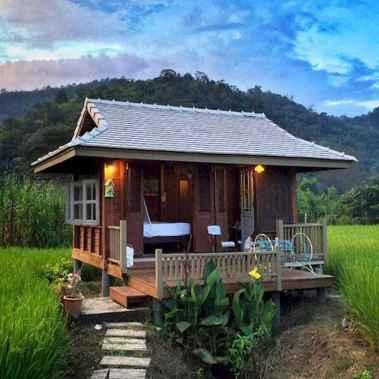 70 Fantastic Small Log Cabin Homes Design Ideas (34)