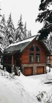 70 Fantastic Small Log Cabin Homes Design Ideas (40)