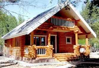 70 Fantastic Small Log Cabin Homes Design Ideas (42)