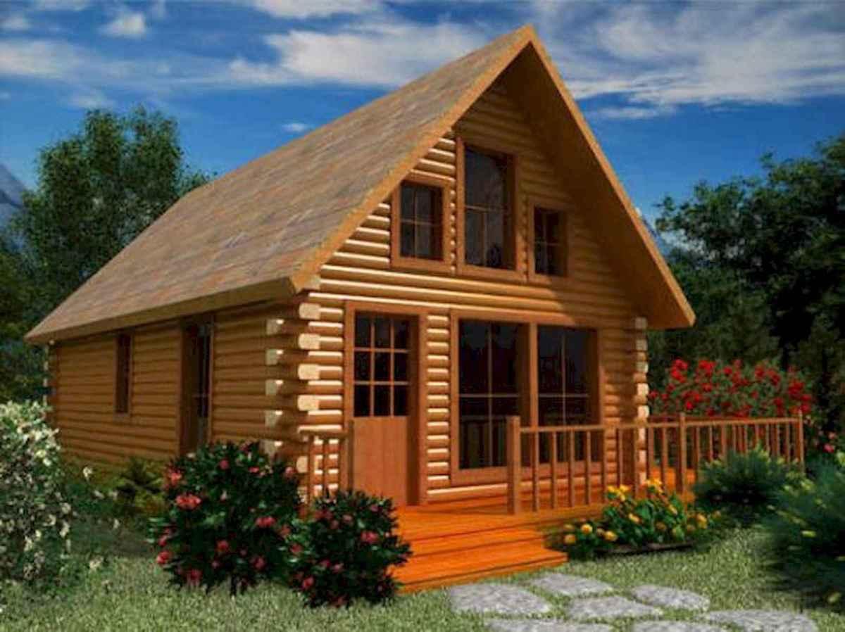 70 Fantastic Small Log Cabin Homes Design Ideas (44)