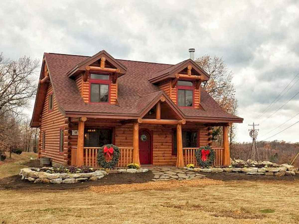 70 Fantastic Small Log Cabin Homes Design Ideas (5)
