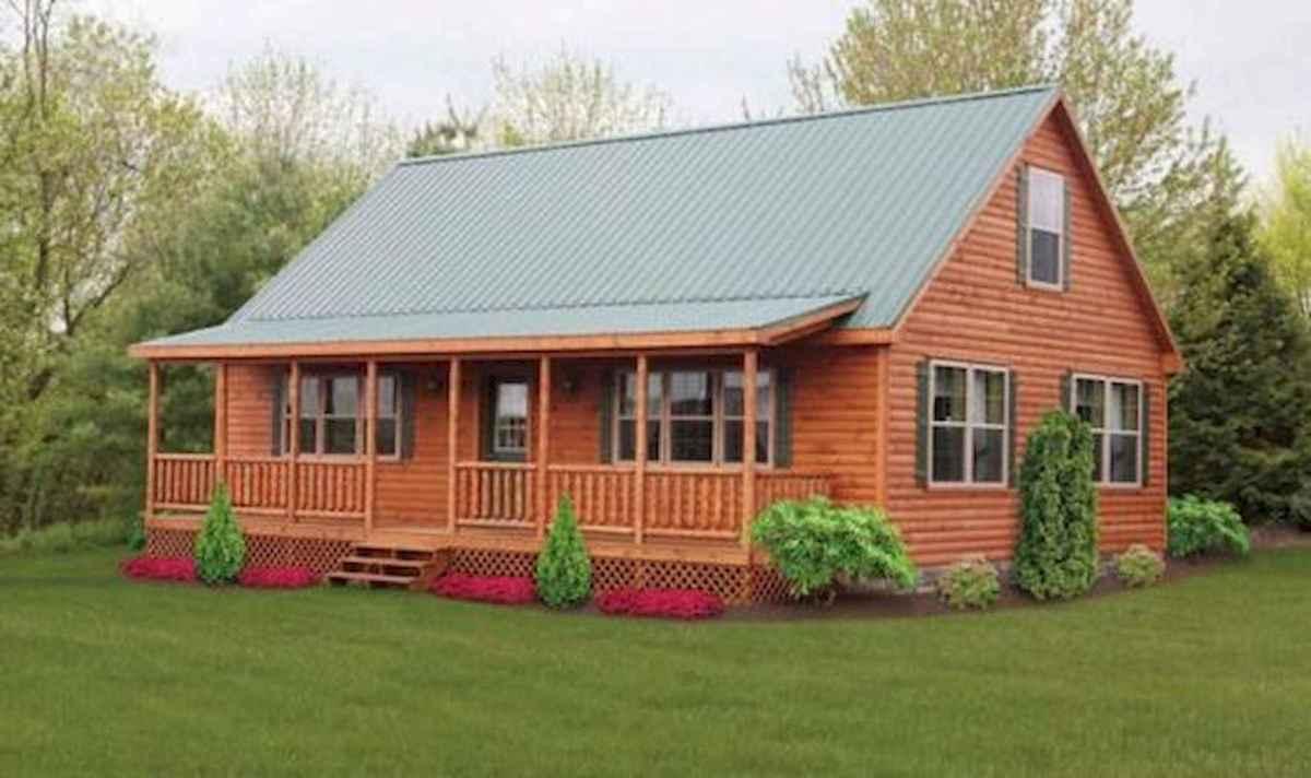 70 Fantastic Small Log Cabin Homes Design Ideas (51)