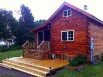 70 Fantastic Small Log Cabin Homes Design Ideas (6)