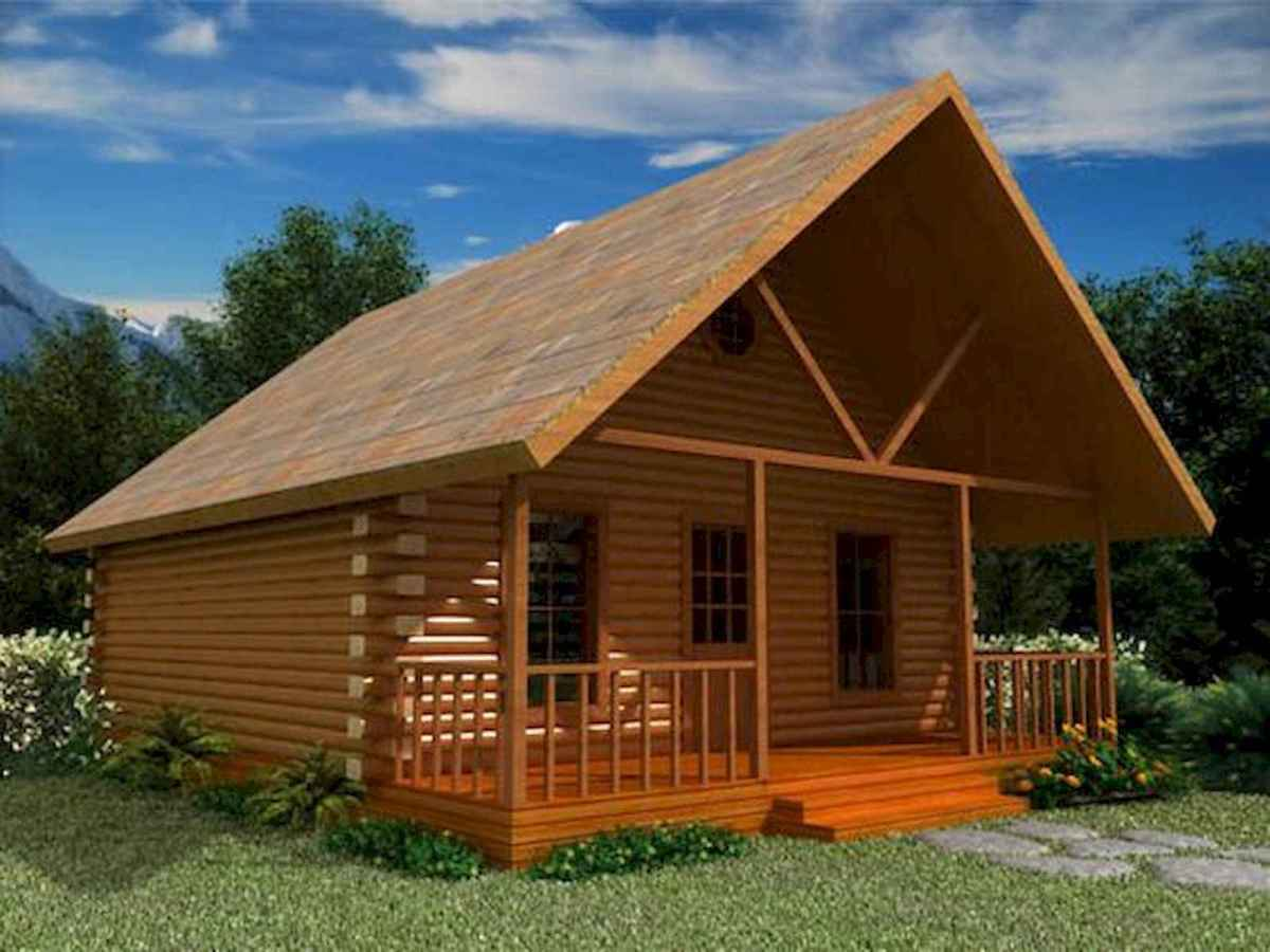 70 Fantastic Small Log Cabin Homes Design Ideas (60)