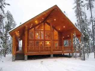 70 Fantastic Small Log Cabin Homes Design Ideas (65)