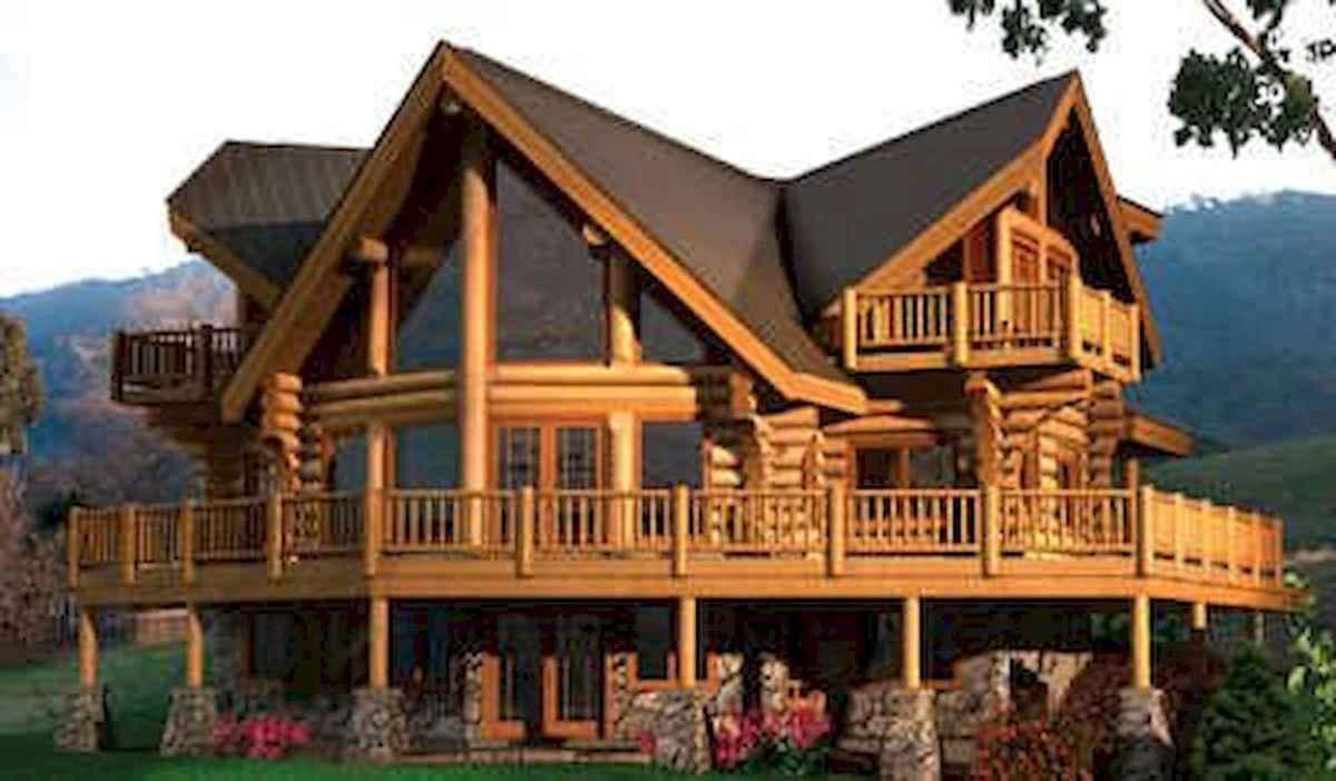 75 Best Log Cabin Homes Plans Design Ideas (55)