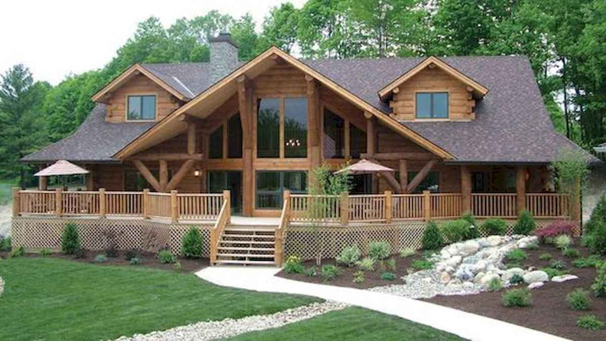 75 Best Log Cabin Homes Plans Design Ideas (75)