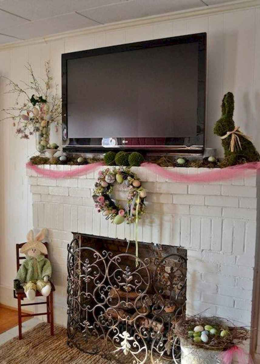 35 Best Easter Fireplace Mantle Decor Ideas (1)