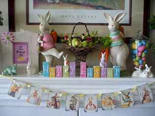 35 Best Easter Fireplace Mantle Decor Ideas (12)