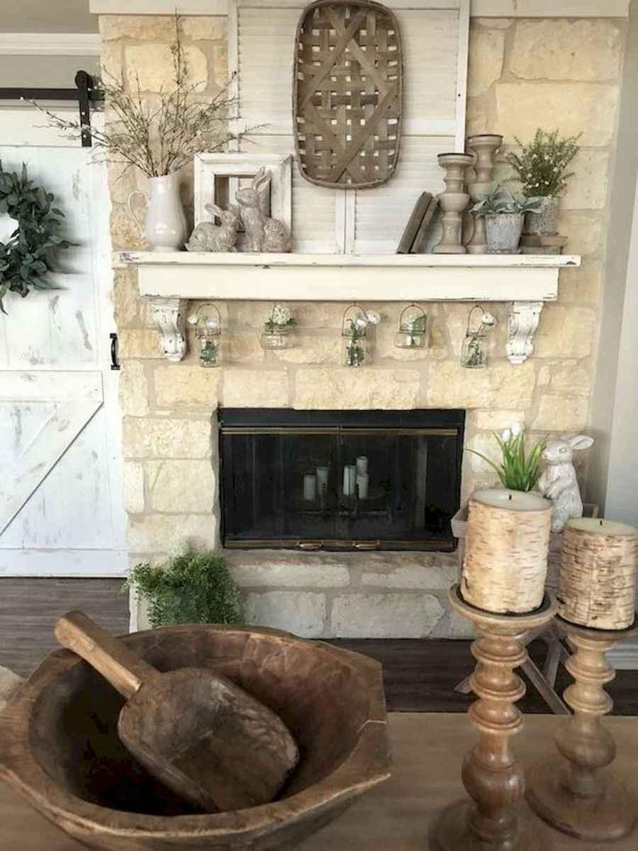 35 Best Easter Fireplace Mantle Decor Ideas (15)