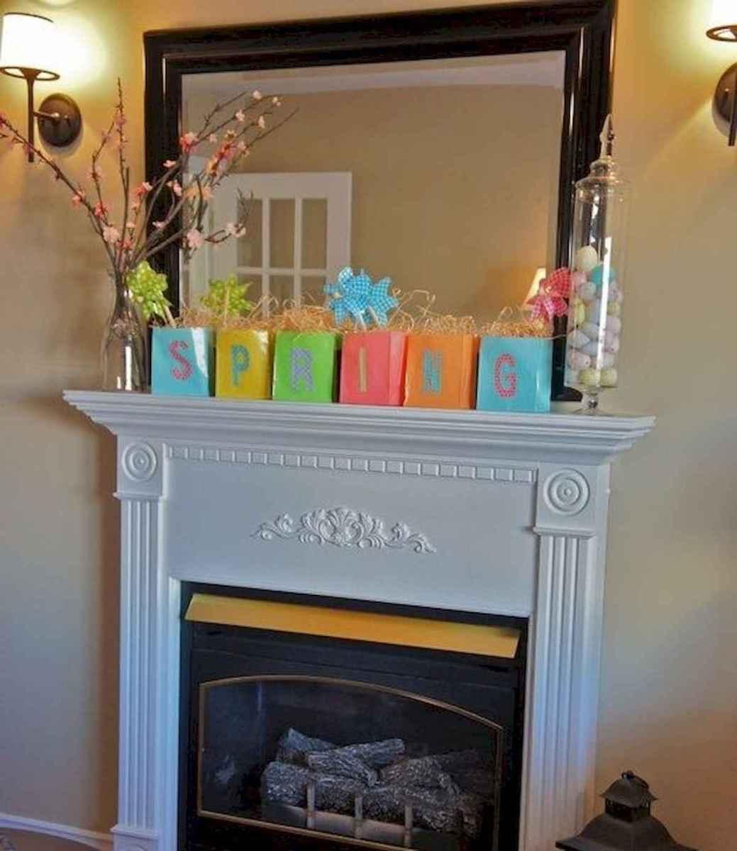 35 Best Easter Fireplace Mantle Decor Ideas (24)