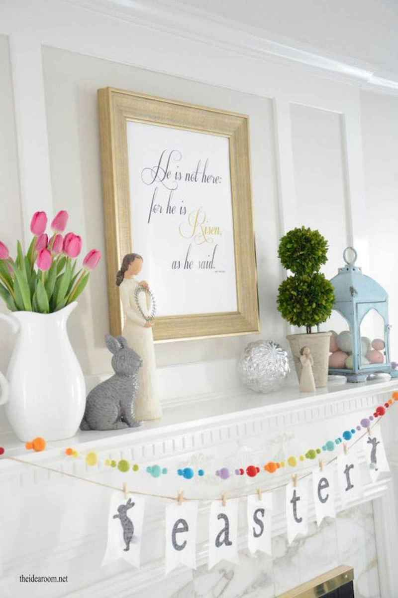 35 Best Easter Fireplace Mantle Decor Ideas (32)