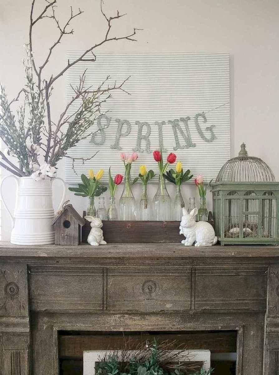 35 Best Easter Fireplace Mantle Decor Ideas (7)
