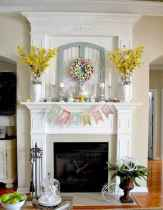 50 Beautiful Spring Mantle Decorating Ideas (17)