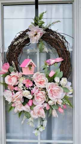 50 Beautiful Spring Wreaths Decor Ideas and Design (50)