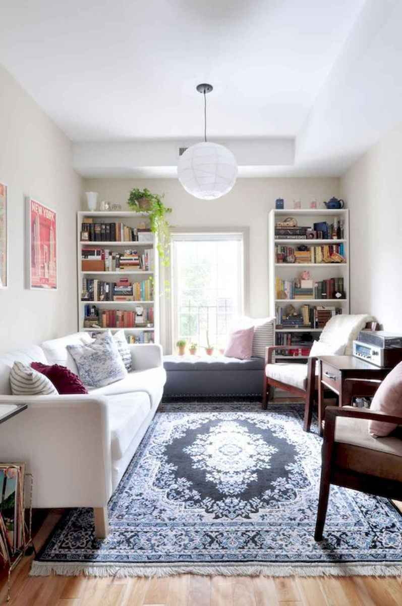 50+ Genius Small Living Room Decor Ideas And Remodel for Your First Apartment (38)