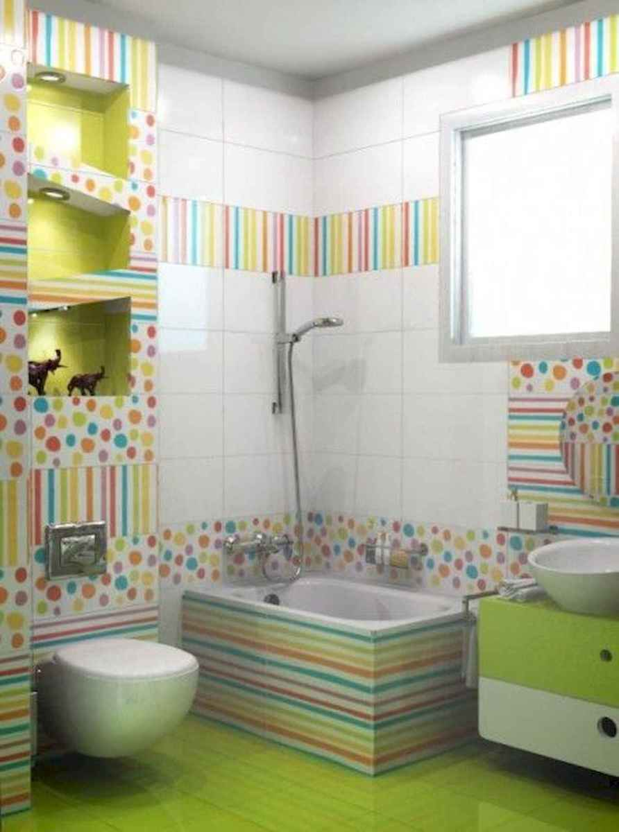 70+ Cool Colorful Bathroom Decor Ideas And Remodel for Summer Project (15)