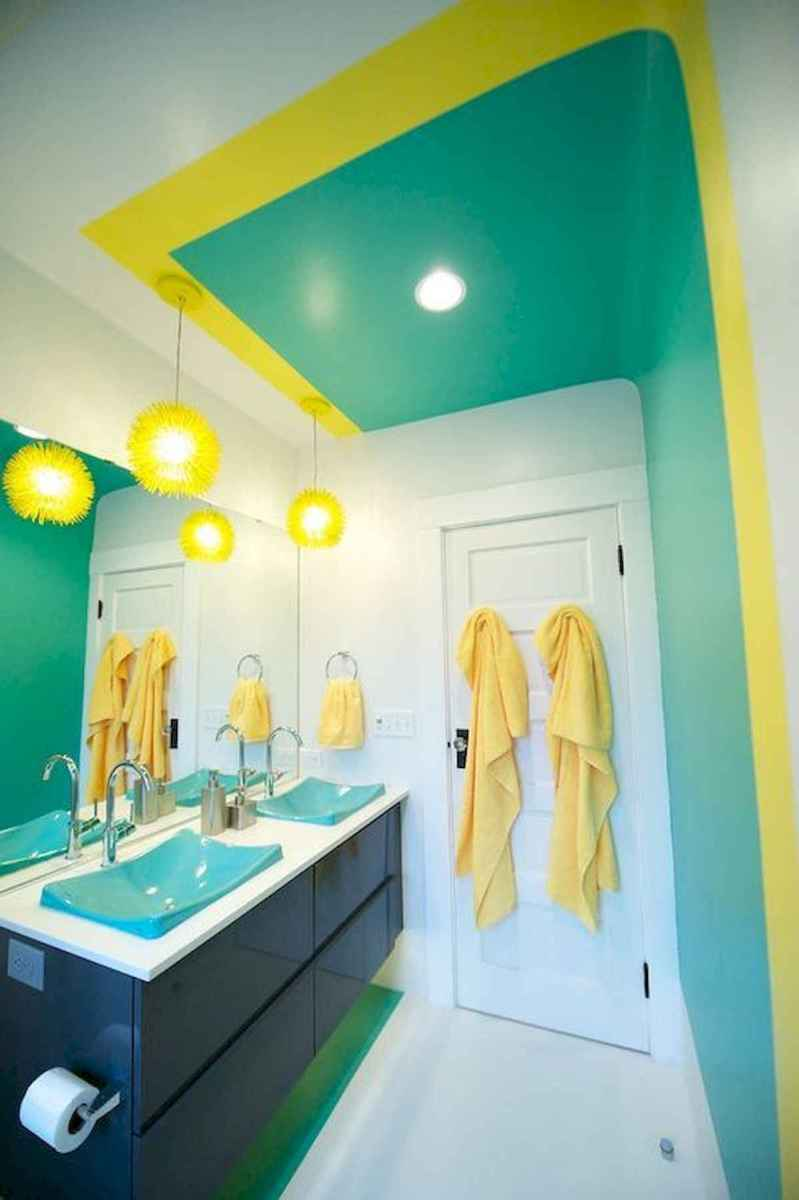 70+ Cool Colorful Bathroom Decor Ideas And Remodel for Summer Project (20)