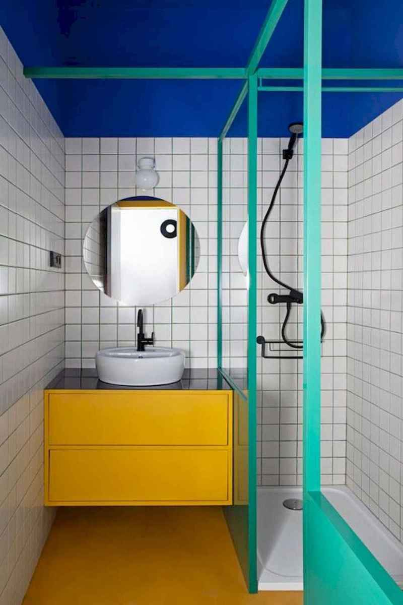 70+ Cool Colorful Bathroom Decor Ideas And Remodel for Summer Project (30)