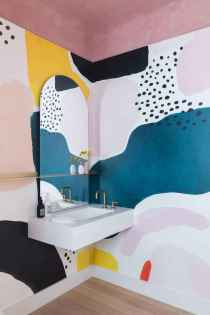 70+ Cool Colorful Bathroom Decor Ideas And Remodel for Summer Project (39)