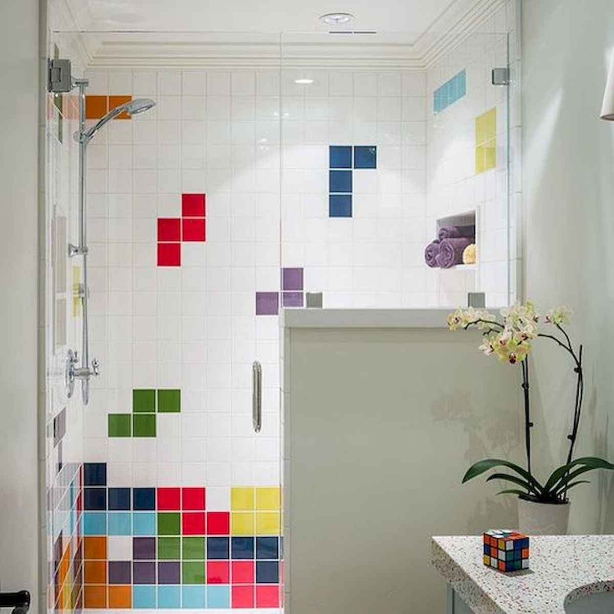 70+ Cool Colorful Bathroom Decor Ideas And Remodel for Summer Project (47)