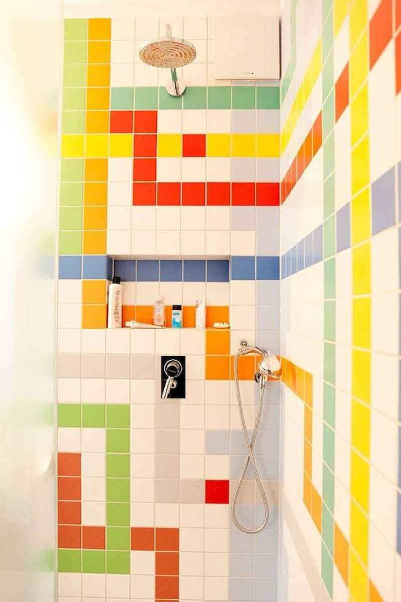 70+ Cool Colorful Bathroom Decor Ideas And Remodel for Summer Project (49)