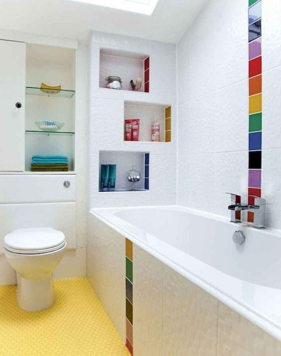 70+ Cool Colorful Bathroom Decor Ideas And Remodel for Summer Project (5)