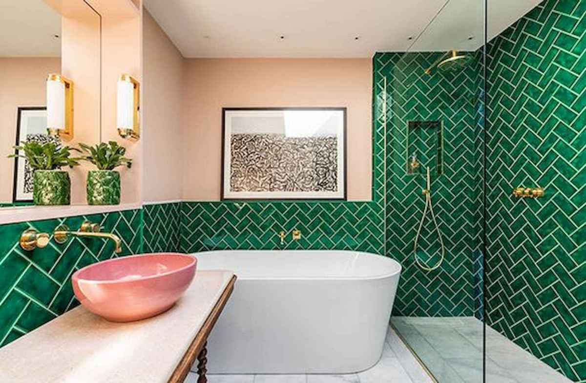 70+ Cool Colorful Bathroom Decor Ideas And Remodel for Summer Project (69)