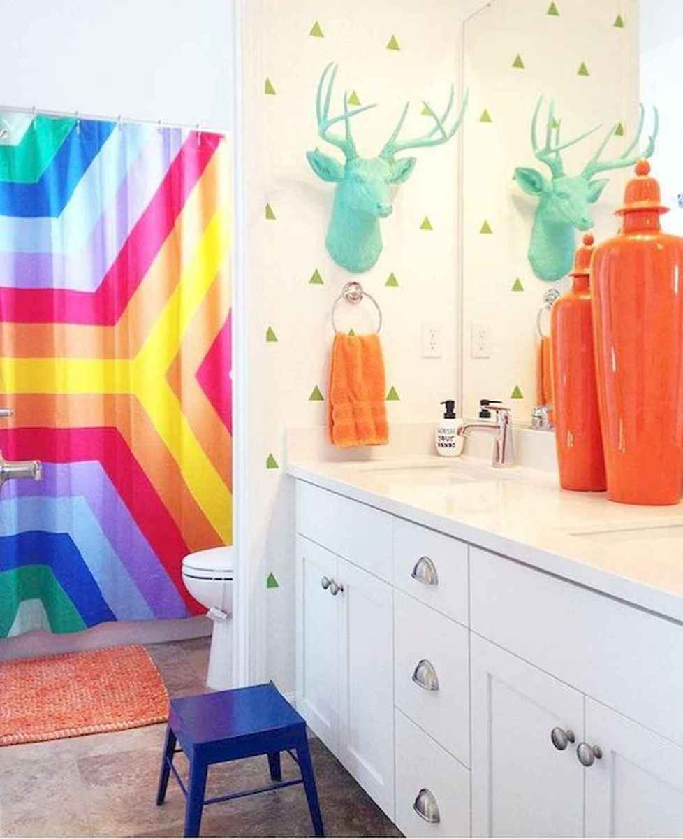 70+ Cool Colorful Bathroom Decor Ideas And Remodel for Summer Project (8)