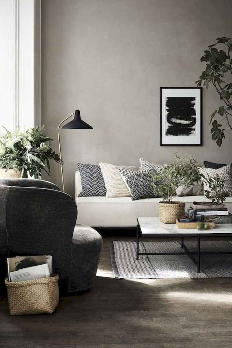 70 Stunning Grey White Black Living Room Decor Ideas And Remodel (10)