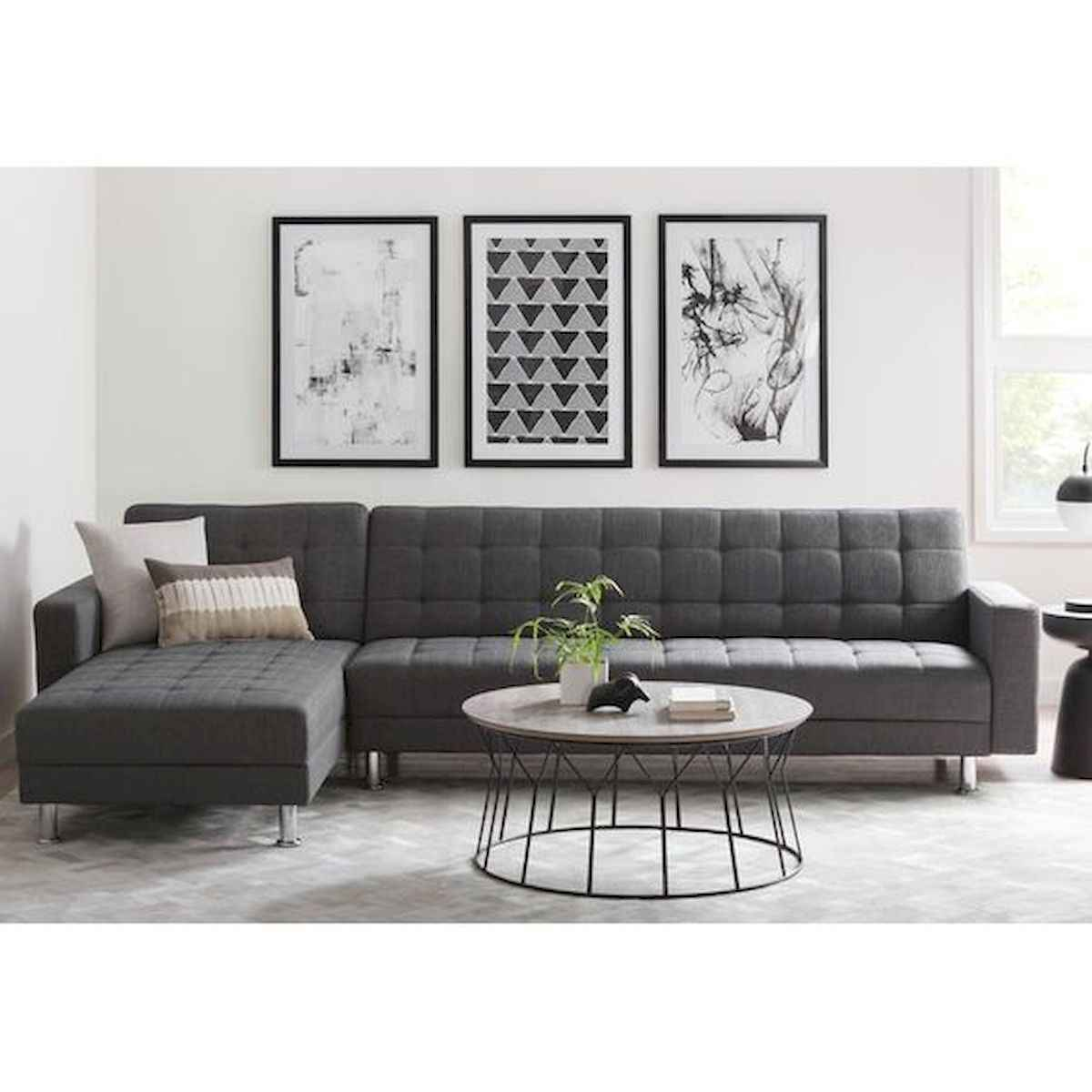 70 Stunning Grey White Black Living Room Decor Ideas And Remodel (11)