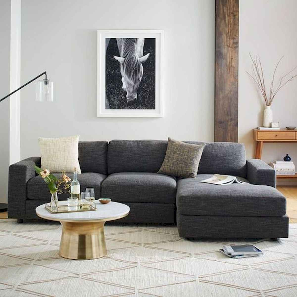 70 Stunning Grey White Black Living Room Decor Ideas And Remodel (19)