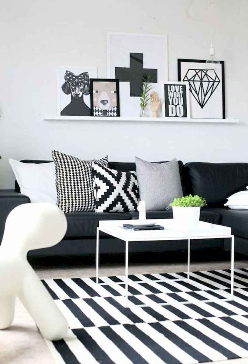 70 Stunning Grey White Black Living Room Decor Ideas And Remodel (2)