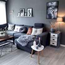 70 Stunning Grey White Black Living Room Decor Ideas And Remodel (20)